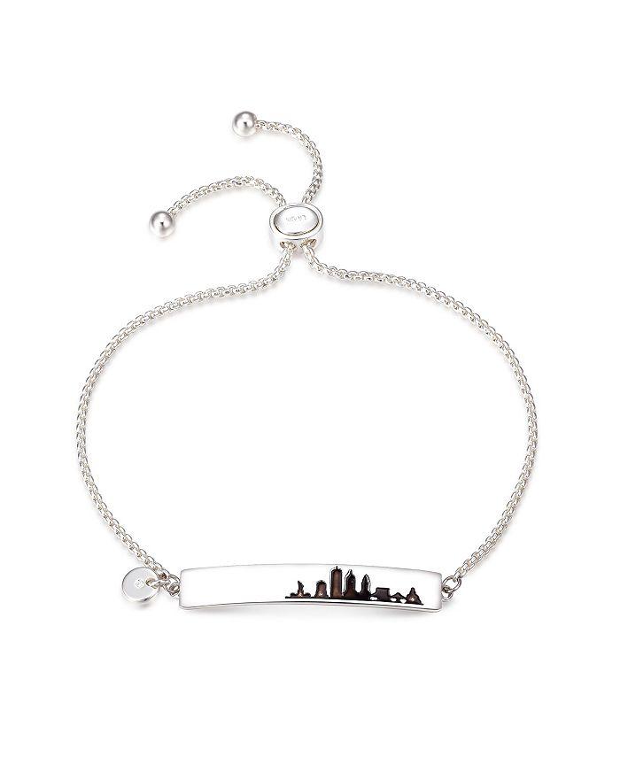 Unwritten - Fine Silver Plated New York City Bar Bolo Bracelet