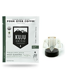 West Sumatra Premium Single-Serve Pour Over Coffee, 10 Pack