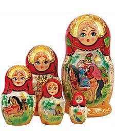 5 Piece Ivan Tzarevich Russian Matryoshka Nested Doll Set