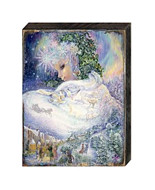 Snow Queen Wall and Table Top Wooden Decor by Josephine Wall