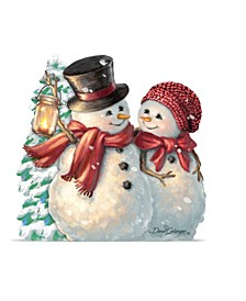 by Dona Gelsinger Snow Much in Love Ornament, Set of 2