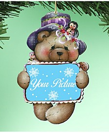 Teddy Bear Picture Ornament Set of 2