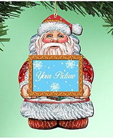 Santa Picture Frame Ornament Set of 2