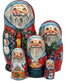 Mr. Christmas 5 Piece Russian Matryoshka Nested Doll Set