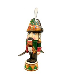 Woodcarved Hand Painted Nutcracker Soldier Figurine