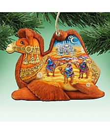 Camel Three Kings Nativity Wooden Christmas Ornament Set of 2