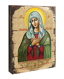 """Icon Tenderness Mother of God Wall Art on Wood 8"""""""
