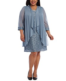 Plus Size Lace Dress & Jacket