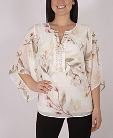 Tunic Top with Jeweled Yoke