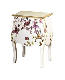 Two Drawer Hand-Painted Accent Cabinet