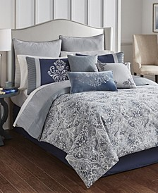 Clanton 9 Piece Queen Comforter Set