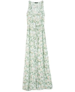 Lucky Brand TIE-WAIST FLORAL-PRINT MAXI DRESS