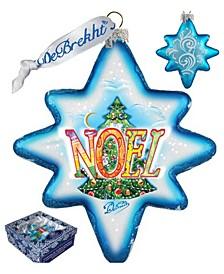 Noel Glass Ornament