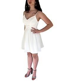 Juniors' Textured A-Line Dress