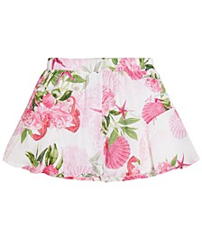Big Girls Floral-Print Woven Shorts