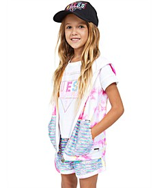 Big Girls Logo T-shirt, Flip Sequin Hoodie & Shorts