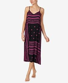 Printed Sleeveless Nightgown