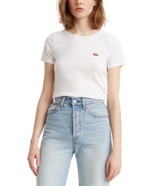 Levi's T-shirts HONEY RIBBED LOGO T-SHIRT