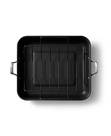 """Premier Hard Anodized Nonstick 16"""" Roaster with Rack"""