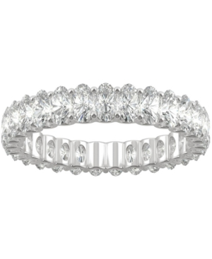 Moissanite Oval Eternity Band (2-9/10 ct. t.w. Dew) in 14k White Gold
