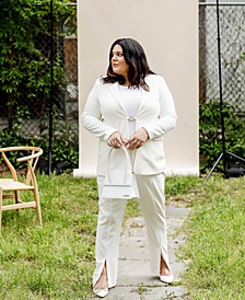Plus Size Slit-Front Pants, Created for Macy's