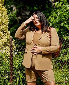 Danielle Bernstein Plus Size Blazer, Created for Macy's