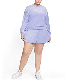 Plus Size Cropped French Terry Sweatshirt