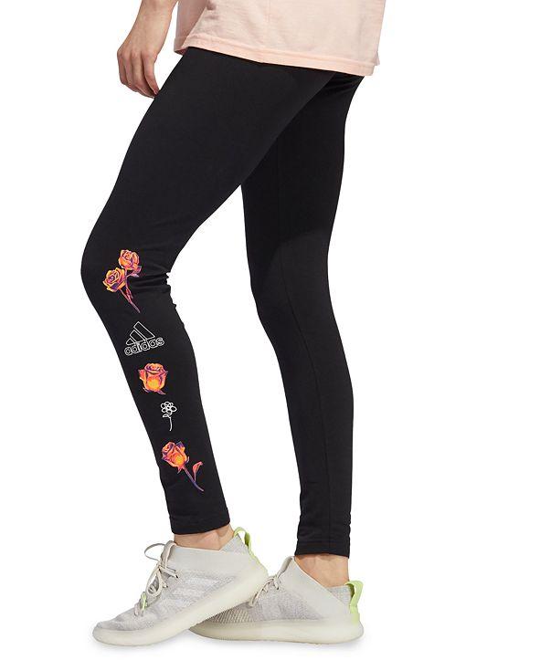adidas Women's Floral Logo Leggings