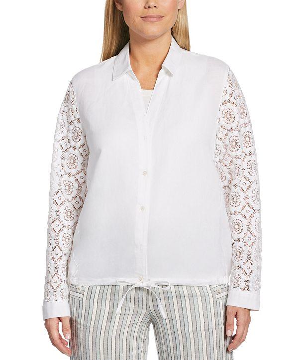 Rafaella Mixed Media Shirt Jacket