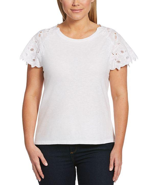Rafaella Linen Blend Short Sleeve Tee Shirt
