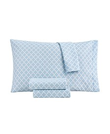 Sander Home Fashion 3 Piece Full Size Printed Microfiber Sheet Set