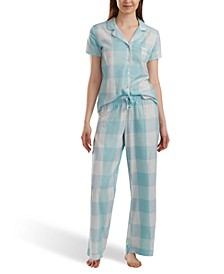 Printed Short-Sleeve Pajamas Set