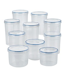 Easy Essentials 20-Pc. Twist Food Storage Containers, Created for Macy's