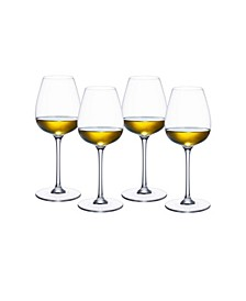 Purismo White Wine Fresh and Rounded Glass, Set of 4