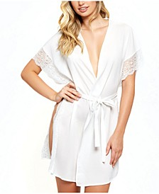 Sherry Lace Trimmed Robe with Double Side Slits