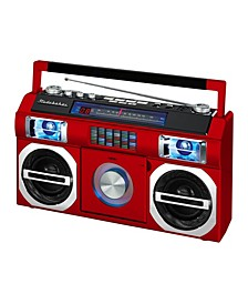 SB2145R 80's Retro Street Bluetooth Boombox with FM Radio, CD Player