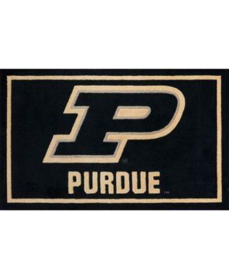 "Purdue Colpu Black 3'2"" x 5'1"" Area Rug"
