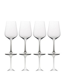 Gianna Ombre Smoke Red Wine Glasses, Set of 4