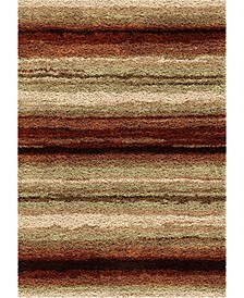 "Reacation Shag Sundown Red 7'10"" x 10'10"" Area Rug"