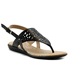 Women's Cinda Laser Cut Out Thong Sandal