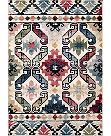"""Monument Lane Northern Star White 7'10"""" x 10' Area Rug"""