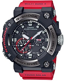 Men's Connected Solar Frogman Red Resin Strap Watch 53.3mm