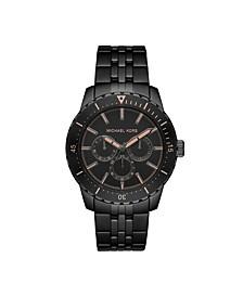 Men's Cunningham Multifunction Black Stainless Steel Bracelet Watch 44mm