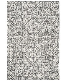 Abstract 522 Gray and Ivory 4' x 6' Area Rug