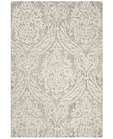 Abstract 204 Gray and Ivory 4' x 6' Area Rug