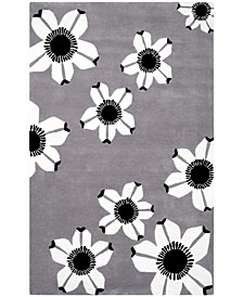 Allure Daisy Gray 4' x 6' Area Rug