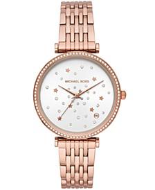 Women's Rose Gold-Tone Stainless Steel Bracelet Watch 37mm