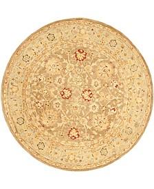 Anatolia An522 Tan and Ivory 8' x 8' Round Area Rug