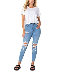 Kontour High Rise Ripped Skinny Jeans