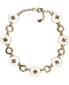 "Gold-Tone Flower Collar Necklace, 16"" + 2"" extender"